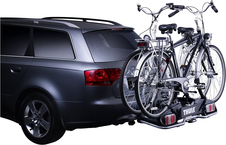Thule 915020 Europower 915 Anhängerkupplungs Fahrradträger Silber 2 Fahrräder Auto