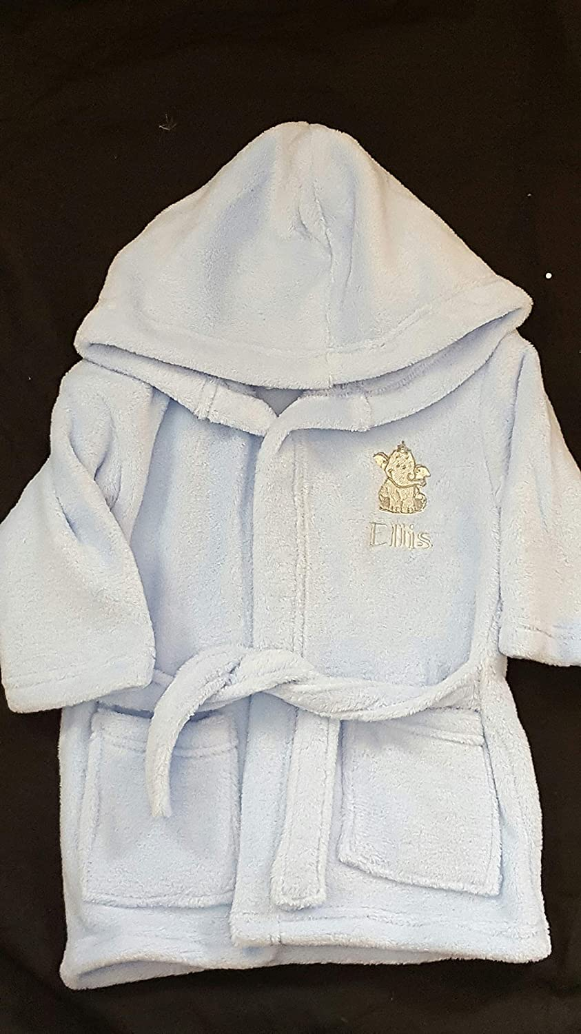Personalised Baby Dressing Gown Bath Robe Available in Pink b216fd3ab