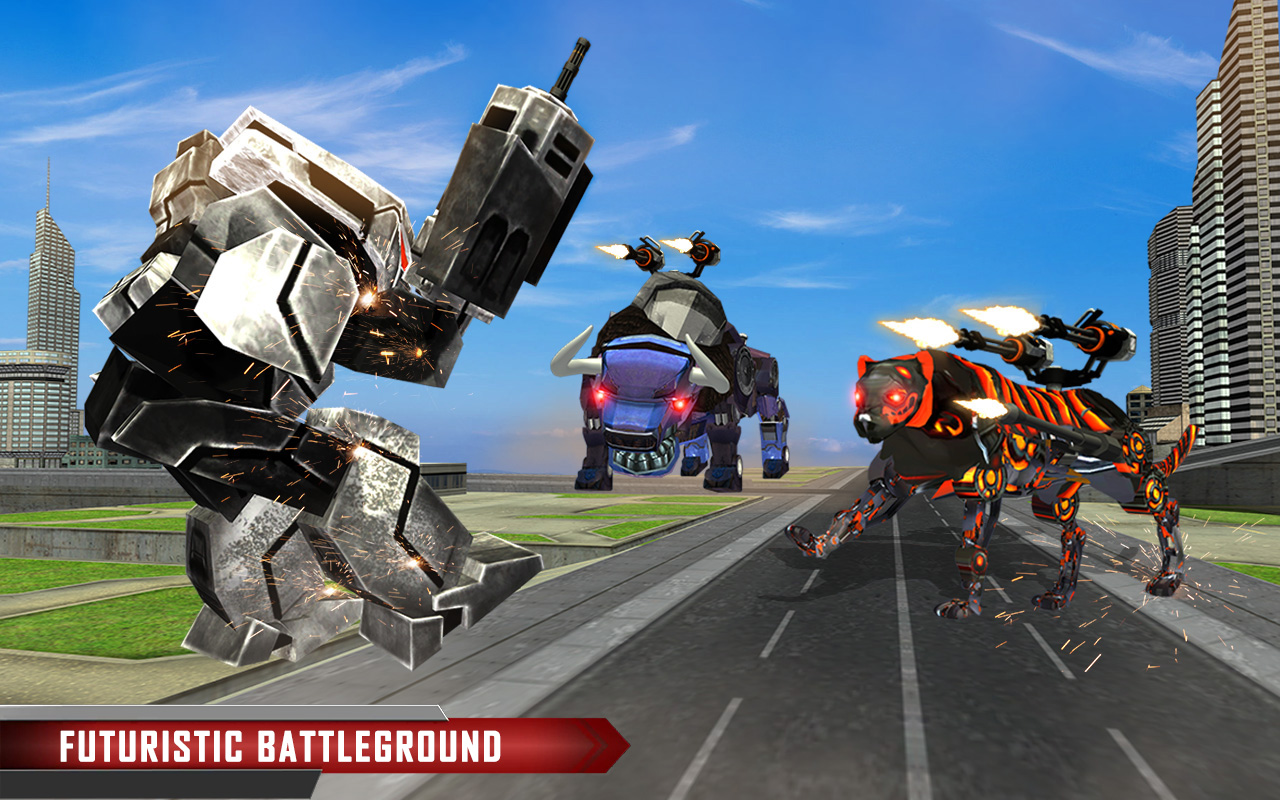 SHOPUS | Multi Robot Transform Battle, Police Dog, Tiger &