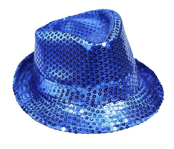 cc9ff379f7b69 Petitebella Solid Color Sequins Top Hat Unisex Costume for Children (Royal  Blue)