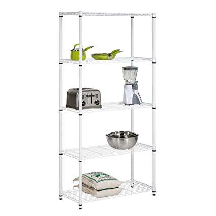 honey can do 5 tier shelf 72 inch Amazon.com: Honey Can Do SHF 01573 5 Tier Adjustable Shelving  honey can do 5 tier shelf 72 inch