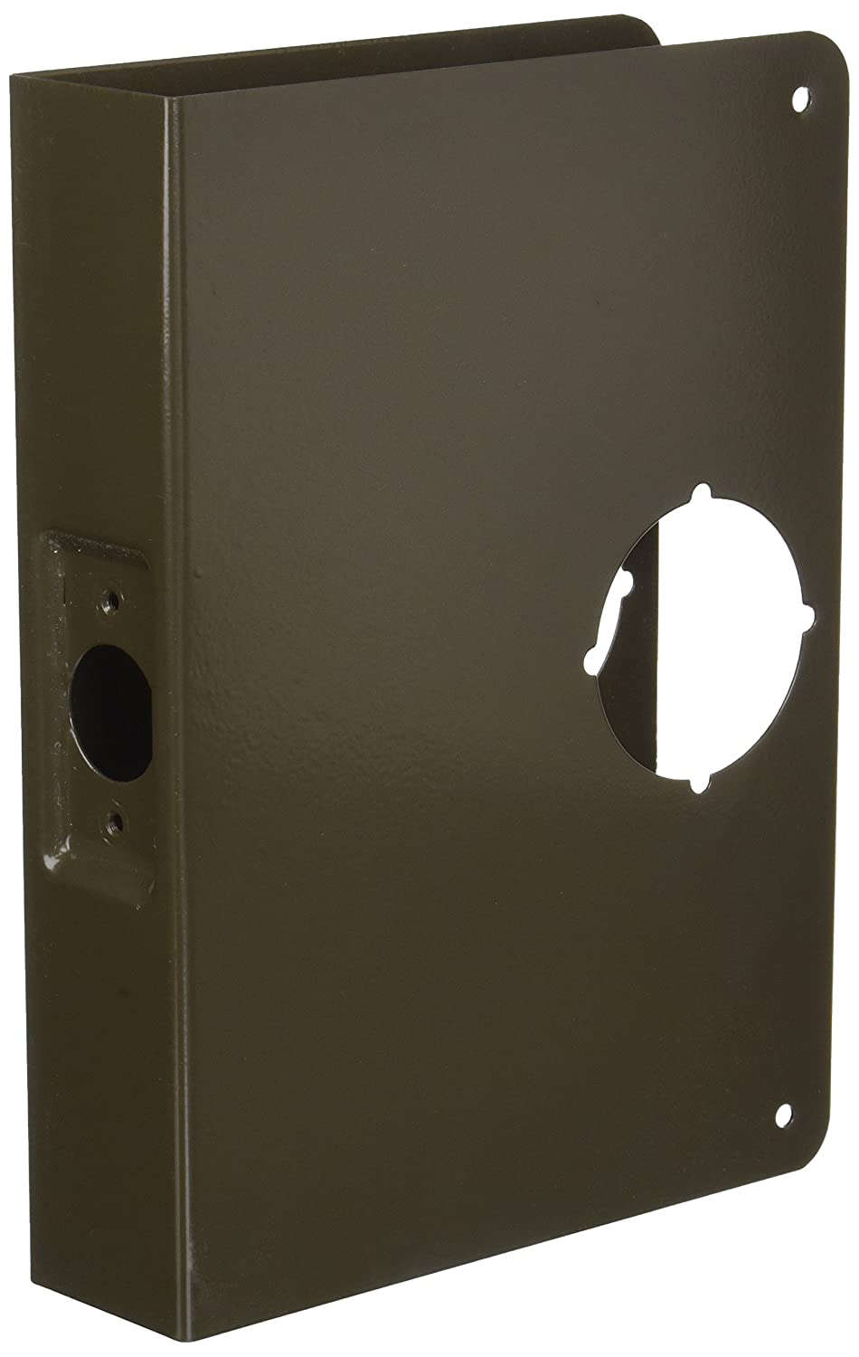 6-1//2 Width x 9 Height Satin Bronze Finish Don-Jo 55-CW 22 Gauge Stainless Steel Mortise Lock Wrap-Around Plate