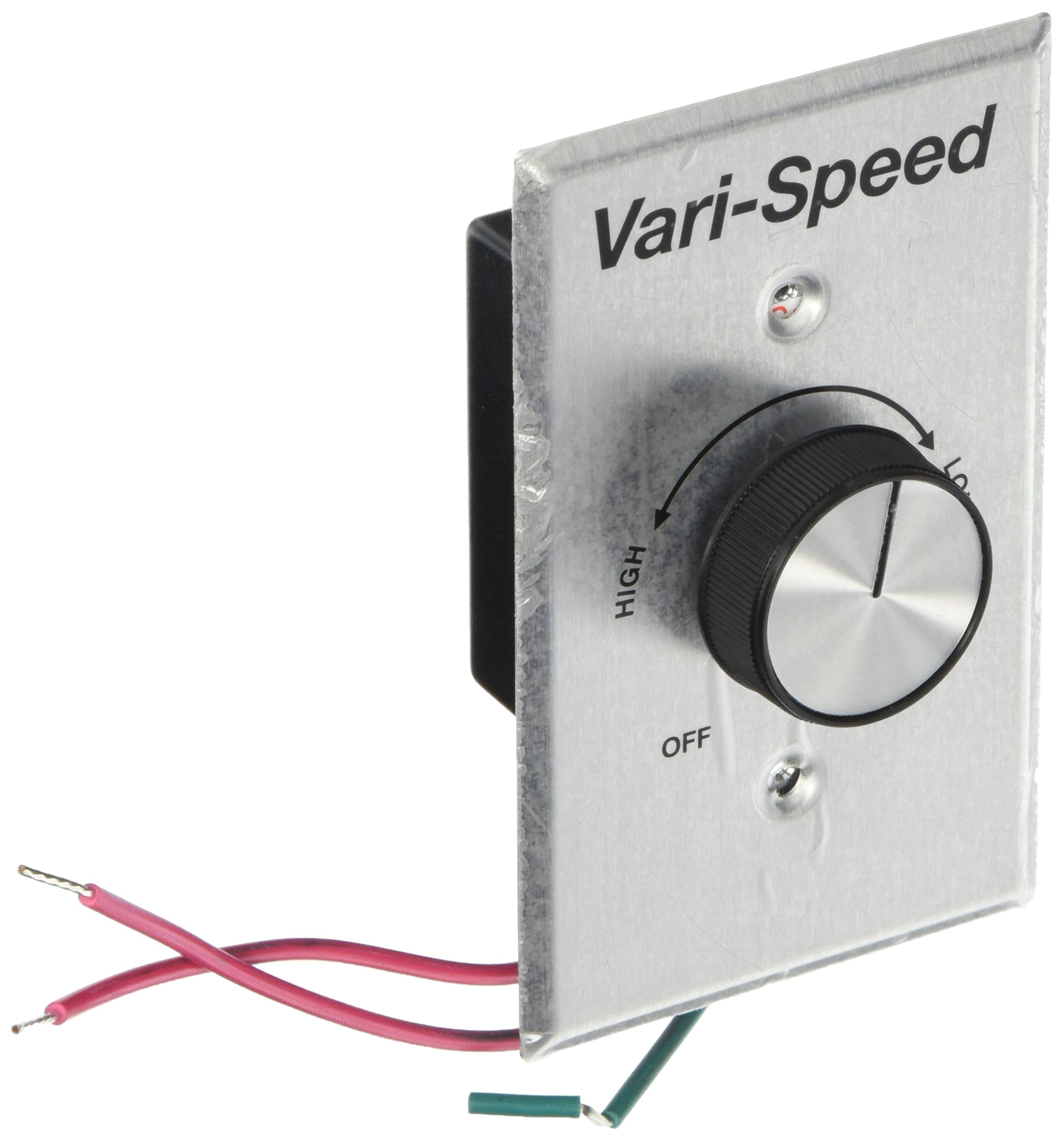 KB Electronics Model KBWC-15K (UR) Variable Speed Fan Control, Wall Mount, Rated 5.0 Amps @ 120 VAC for use with Shaded Pole and PSC Motors