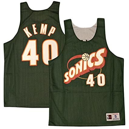 a5a134d1f Mitchell   Ness Shawn Kemp Seattle SuperSonics All Star 1996 Reversible  Jersey (Small)