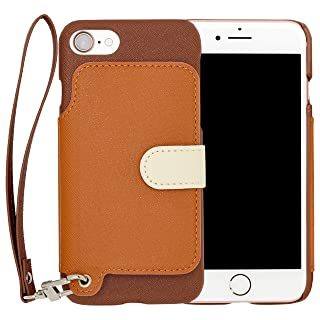 05c4168106 RAKUNI Light PU Leather Case Book Type with Strap for iPhone 7 PUレザー スタンド機能  カードケース