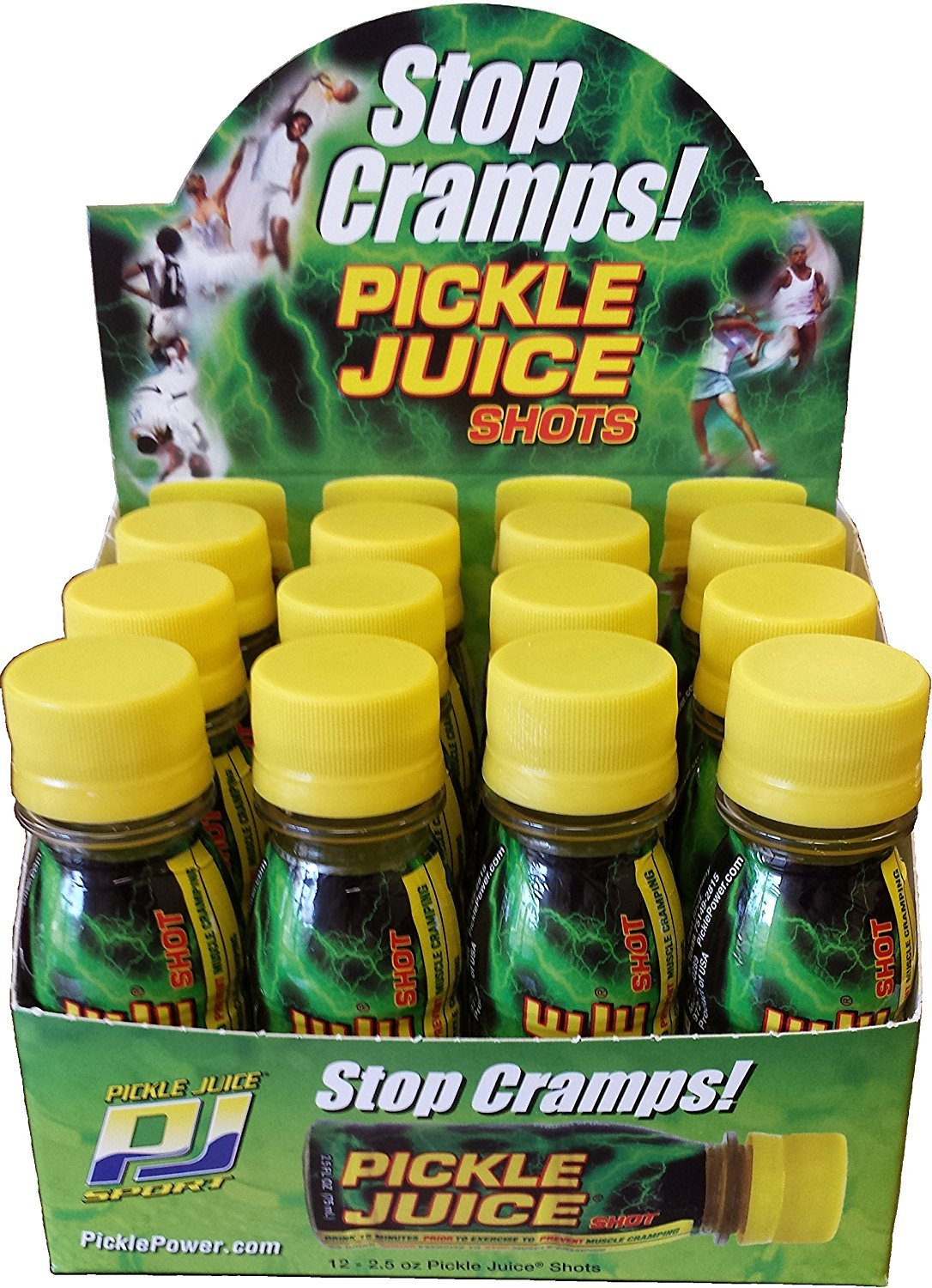 Pickle Juice Extra Strength Shots, 2.5 oz, 12 pack - 2 Boxes by Pickle Juice.