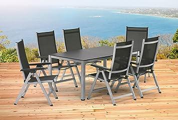 Amazon.de: Kettler BASEL Gartenmöbel 1 Tisch 160 cm und 6