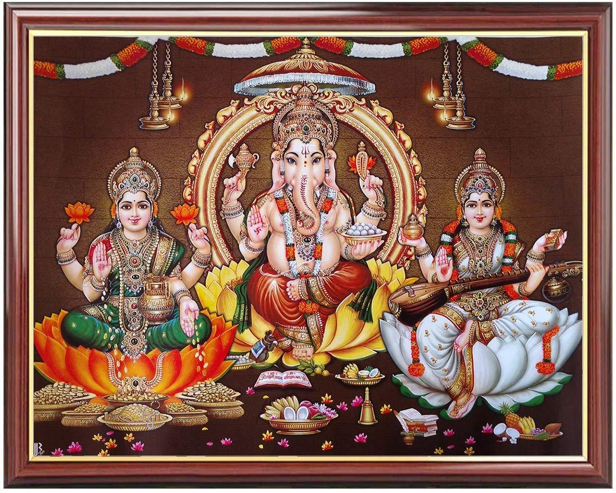 Buy Youth Lakshmi Saraswathi Ganesha Frame Line At
