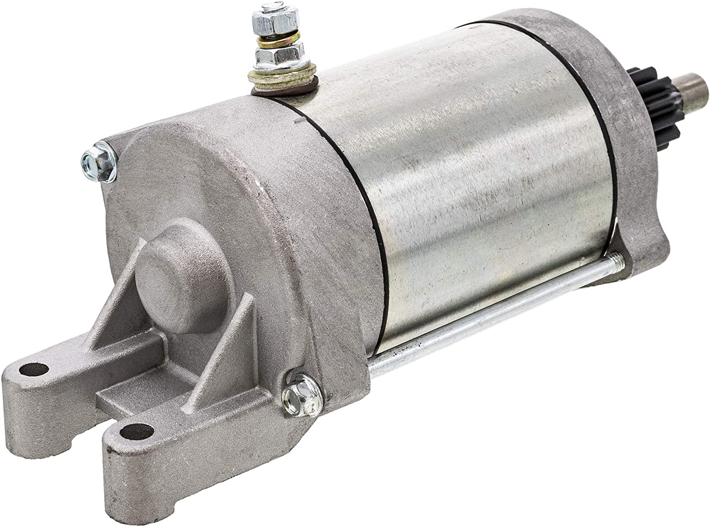 5KM-81890-00-00 Starter Motor Replacement for Yamaha UTV Rhino 450 660 ATV Grizzly 450 660 Kodiak 400 450 Wolverine 450 with 9 Tooth 12V Starter Motor OE Replace # 4WV-81800-00-00 4WV-81890-00-00