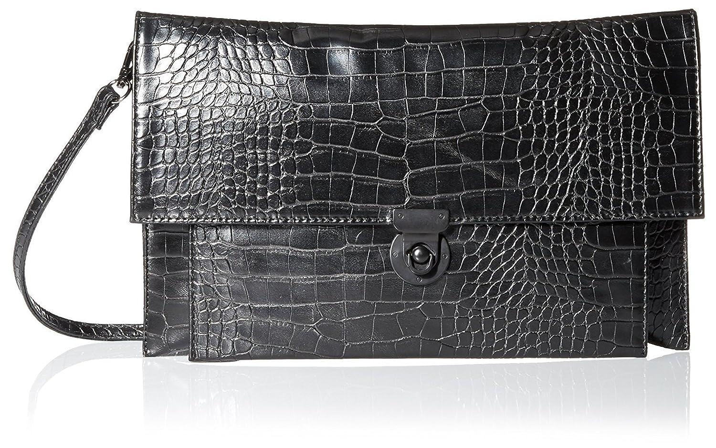 Nila Anthony Women's Croco Clutch in Black