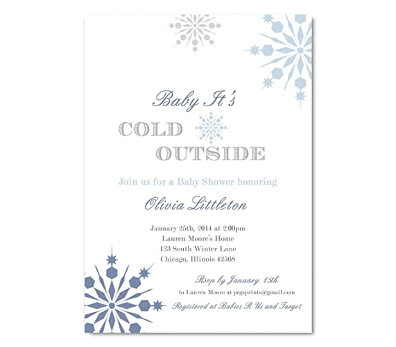 Amazon winter baby shower invitations boy boy winter baby winter baby shower invitations boy boy winter baby shower invitation snowflake baby shower filmwisefo