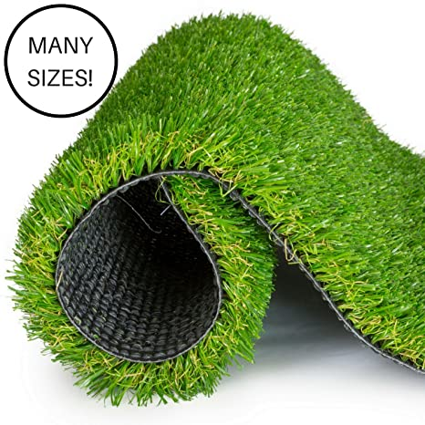 SavvyGrow Artificial Grass For Dogs AstroTurf Rug   Premium 4 Tone  Synthetic Green Astro Turf