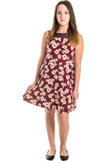 054113bad55c Smile You Are Beautiful Girls Extra Fit Plus Size Kids Brushed Floral Print  Mesh Insert Sleeveless