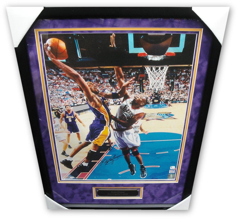 b01db8994dfa6 Kobe Bryant Hand Signed Autographed 16x20 #8 Photo Mutombo Dunk ...
