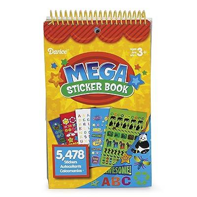 Darice STRK-12T Teacher Style Mega Sprial Bound Sticker Book, Includes 5,478 Stickers: Arts, Crafts & Sewing