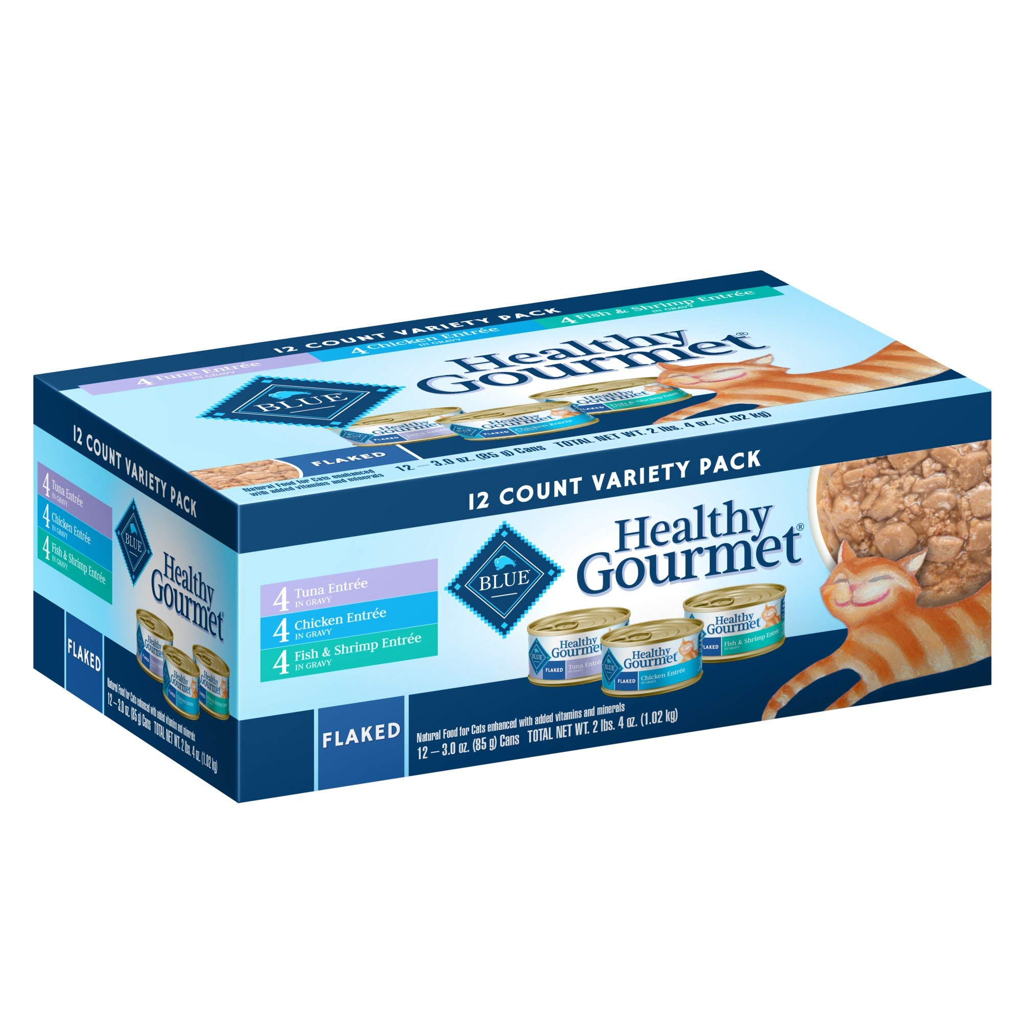 Blue Buffalo Blue Healthy Gourmet Adult Variety Pack Cat Food, 3 oz, Case of 12 by Blue Buffalo