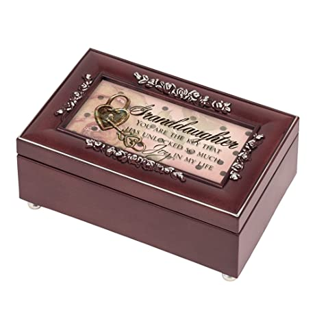 Amazoncom Granddaughter Joy Rosewood Jewelry Music Box Plays You