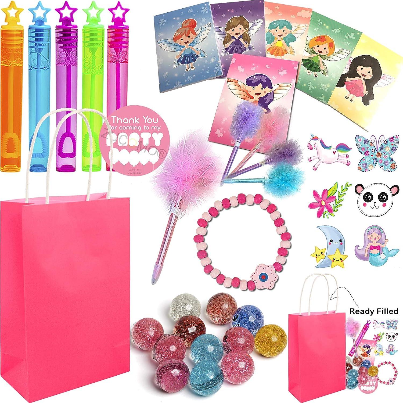 6 Mermaid Toy /& 6 Unicorn Bracelets Kids loot Party Bag Fillers Favours Girls