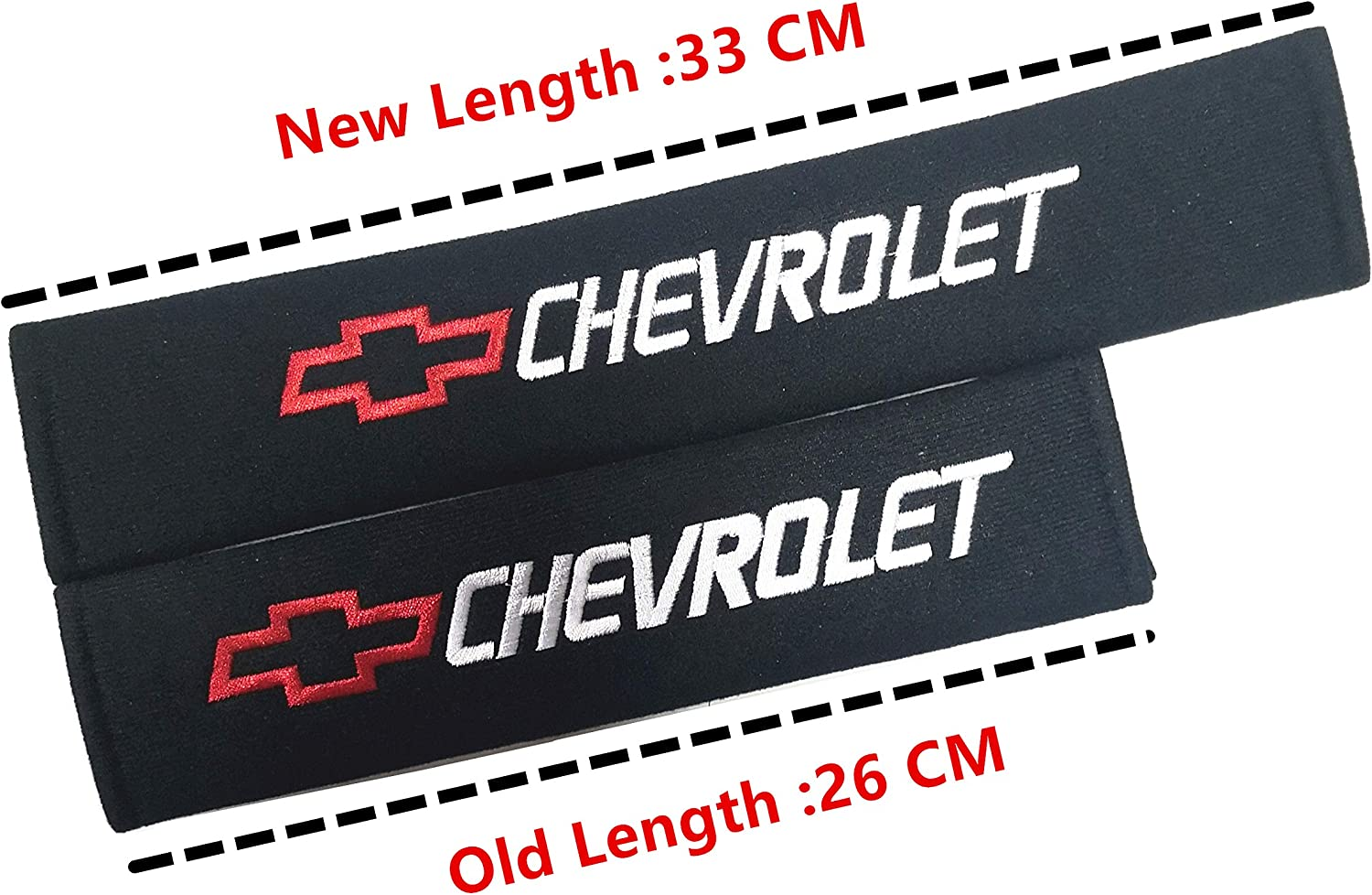 Benz Strap Covers Cushion Long 13INCH Pair with Car Logo ACGOING Car Seat Belt Shoulder Pads