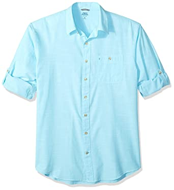 99c8703b Amazon.com: IZOD Men's Big and Tall Saltwater Dockside Chambray Long Sleeve  Button Down Solid Shirt: Clothing