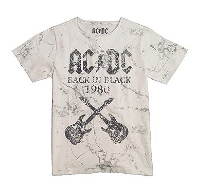 d8197cbe7 ACDC Camiseta de Manga Corta para Niño Cuello Redondo Tshirt Casual (7 8  Años
