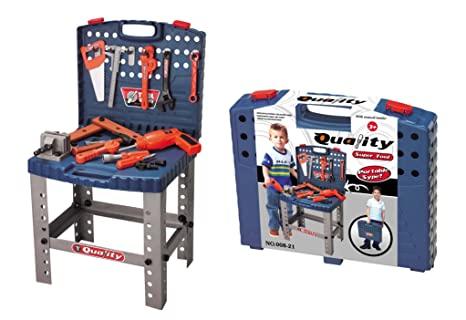 8dcd730bb MegaToyBrand Workbench Kids Tool Set Top Quality Workshop Toy w// 12  Realistic Hanging Tools ...