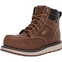 """KEEN Utility Men's Cincinnati 6"""" Composite Toe Waterproof Wedge Work Shoe, Belgian/Sandshell, 10.5 Wide US"""