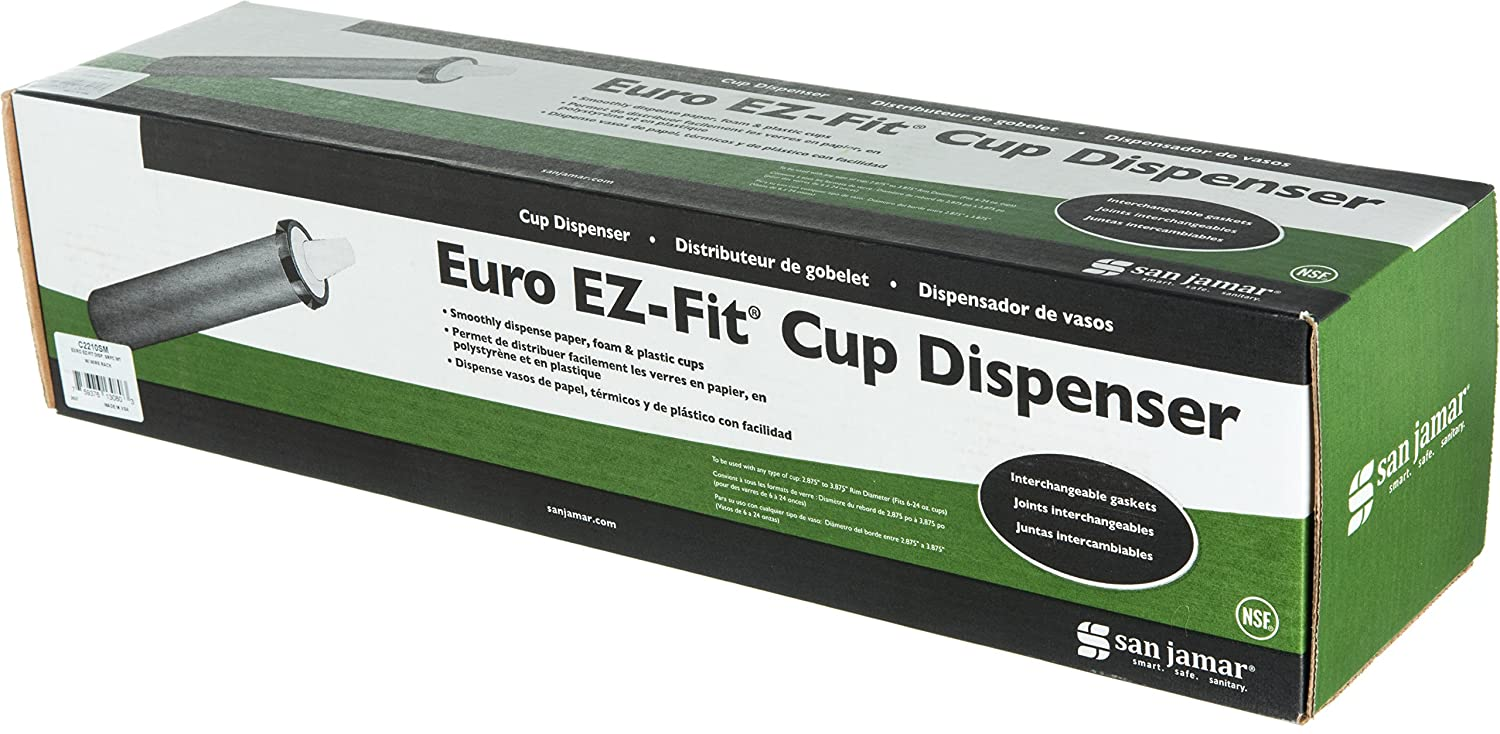 Amazon.com: San Jamar C2210SM EZ-Fit Cup Dispenser 18-Inch Surface Mount: Industrial & Scientific
