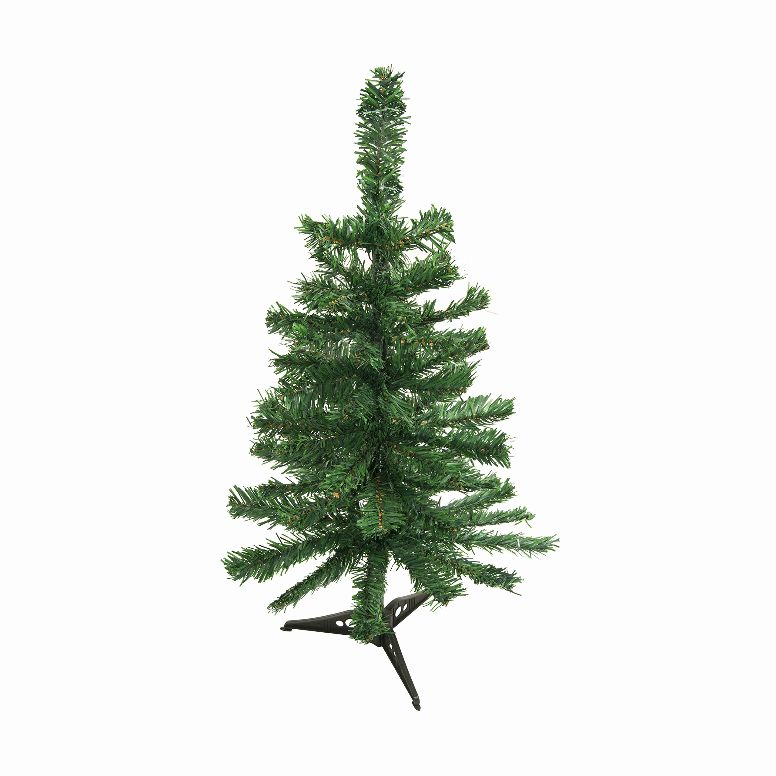 ALEKO CT24H12 Artificial Holiday Christmas Tree Premium Pine with Stand 2 Foot Green