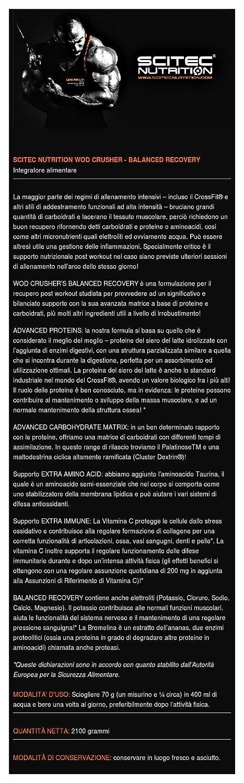 Scitec Wod Crusher Complejo de Recuperación Post-Entrenamiento - 2100 gr: Amazon.es: Alimentación y bebidas