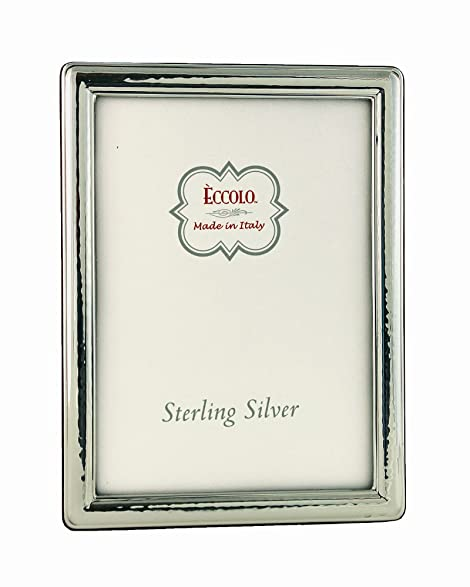 Amazon.com - Eccolo Sterling Silver Frame, Holds 5 by 7-Inch Photo ...