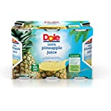 Dole 100% Juice, Pineapple, 6 Ounce Cans (Pack of 48)