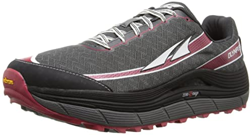 Altra Men's Olympus 2 Trail Running Shoe, Pewter/Racing Red, ...