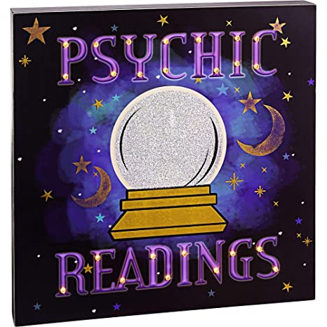 Psychic Readings Near Me >> Party City Light Up Psychic Readings Sign Features A Glitter Crystal Ball And Lights Measures 14 Inches Square