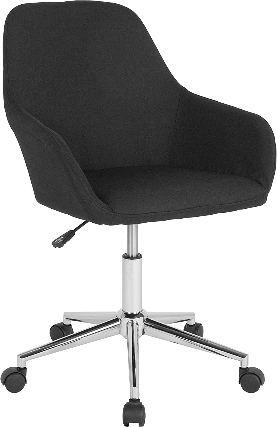 Flash Furniture Cortana Home and Office Mid-Back Chair in Black Fabric