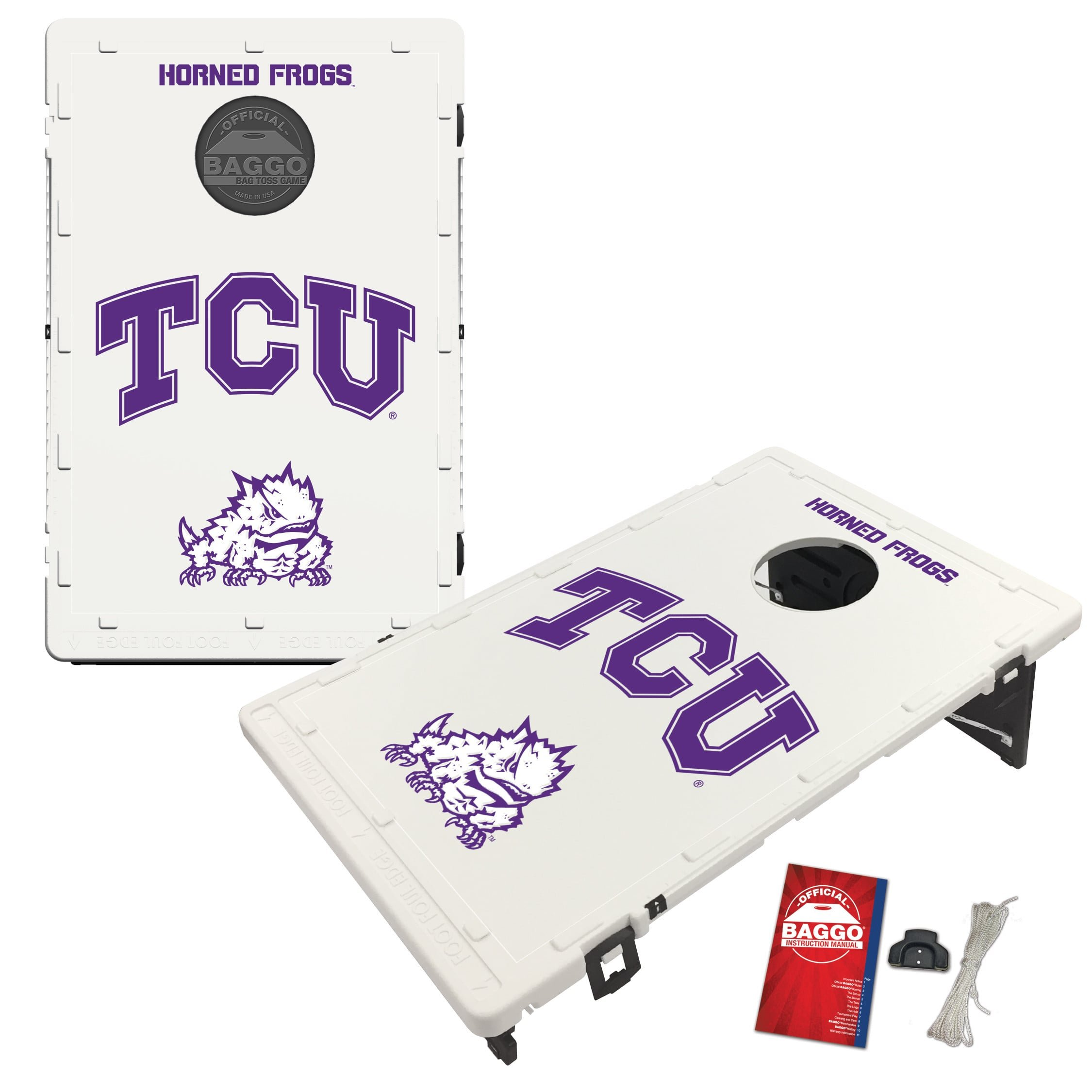 Texas Christian University Horned Frogs TCU Baggo Bean Bag Toss Cornhole Game Classic Design