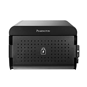 Pearington 12 Device Portable Universal Tablet, iPad, Chromebook, Laptop Charging Station with Lock, Surge Protection, for Classroom or Office