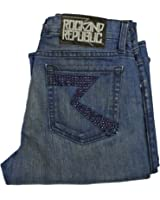 Rock And Republic Kasandra Sizzle Service Blue Jeans