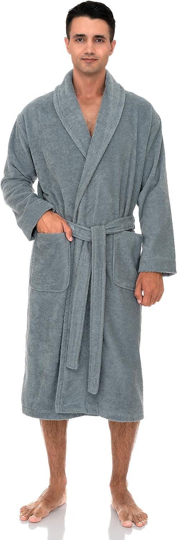 TowelSelections Men's Robe, Turkish Cotton Terry Shawl Bathrobe