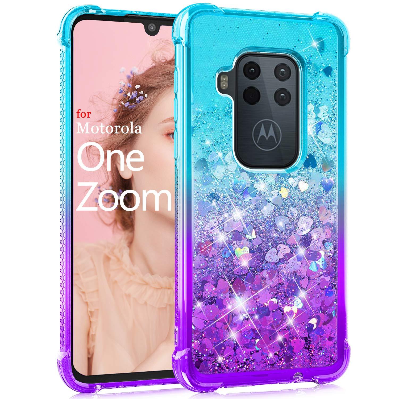 Funda Con Glitter Para Motorola One Zoom