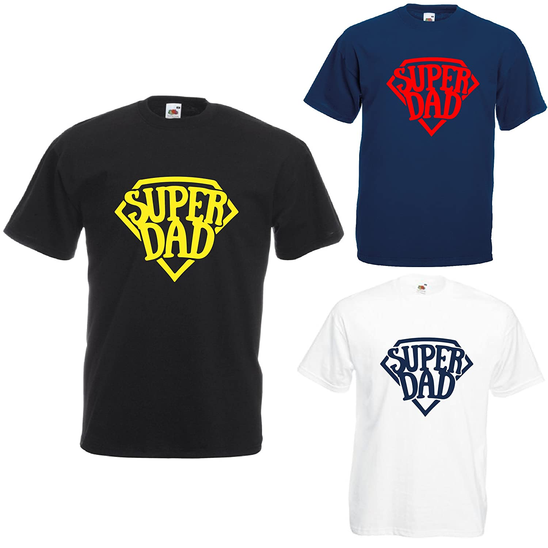 love print T Shirt Maglia Maglietta Idea Regalo per Il Papa Super Dad Super