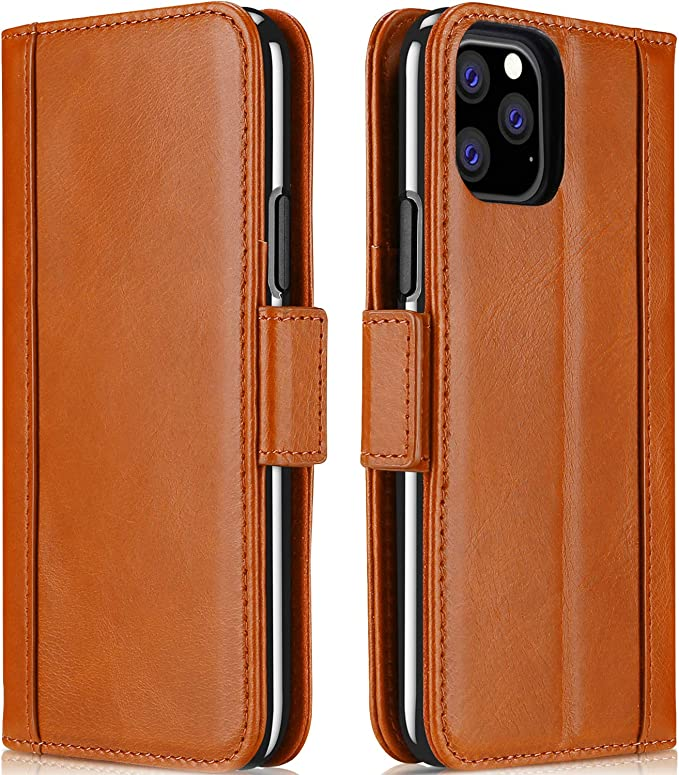 Custodia Lusso Pelle Cover per Apple iPhone 11 Marrone