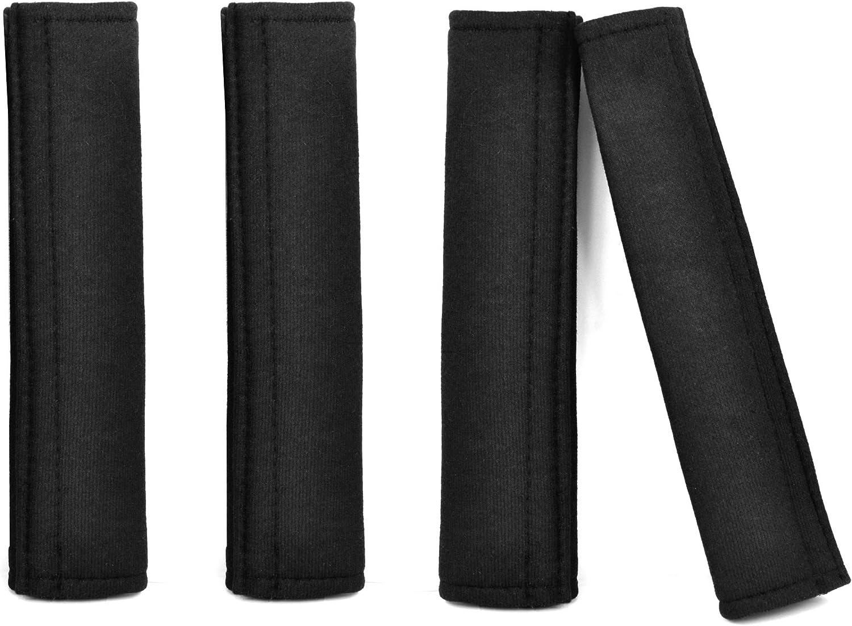 10JQK Protezione Guaine per Cintura di Sicurezza per Auto Comfort Coprispalle Imbottitura Protezione per Hyundai Kona 2 Pezzi Car Seat Belt Cover Accessori per Interni Fibra di Carbonio