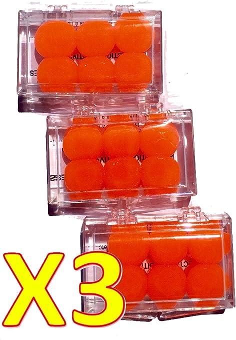Boite de 3 paires de BOUCHONS d/'oreilles en SILICONE 22dB BODYGUARD