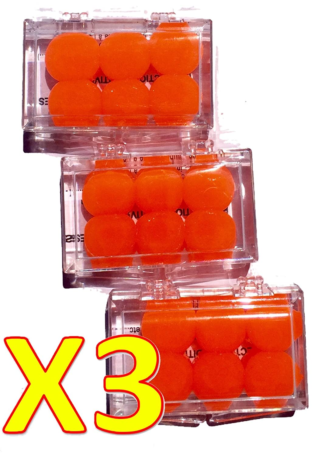 BODYGUARD EAR Protection Auditive Silicone 6 Bouchons d'oreille en silicone ORANGE - Lot de 3 boites de 6 Bouchons O… 271164