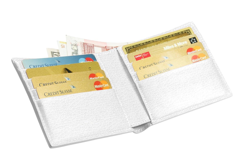Lucrinスタンダードクレジットカードホルダー、グラニュー牛革 - スノーホワイトPM1069_VCGR_BLN   B00JXL87UC