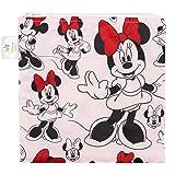 Bumkins Disney Minnie Mouse Sandwich Bag/Snack Bag, Reusable, Washable, Food Safe, BPA Free, 7x7