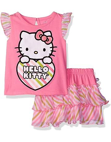 3c6b8a352d631 Hello Kitty Girls' T-Shirt and Skirt Set