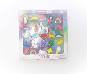 Rainbow Dreams 25 pack of 3D erasers
