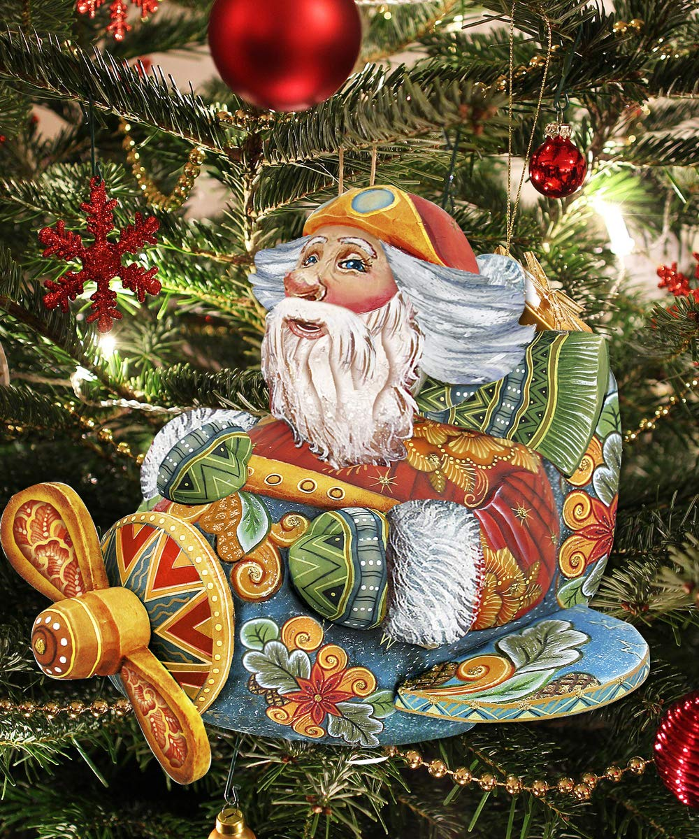 Handmade Products Yard Signs Christmas Lawn Decoration Outdoor Christmas Decor Aviator Santa Yard Art Wooden Hanging Freestanding Figurine 8112030m